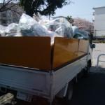 施設に移るため不要な家具、家電品の回収「2DK団地」