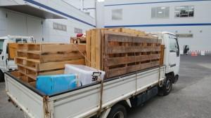 工場での作業事例「木パレット」
